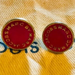 Marc Jacobs preloved Disc Post Earrings Fuscia
